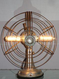 Vintage Westinghouse Fan Table Lamp Machine Age Steampunk Light Retro Fixture | eBay-nufangledrestorations