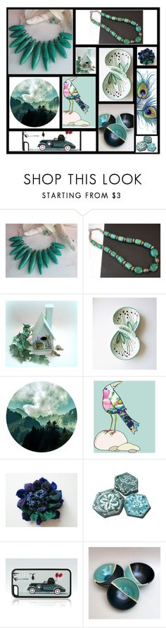 """Turquoise Jewels"" by inspiredbyten ❤ liked on Polyvore"