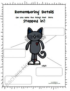 Pete the Cat Activity Packet