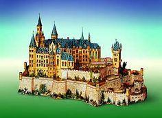 Maquetas de castillos para montar con recortables Castillo Bodiam, Cologne, Cathedral, Medieval, Mansions, House Styles, Building, Travel, Neuschwanstein Castle