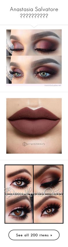 """Anastasia Salvatore ☠️"" by cosmicpanda ❤ liked on Polyvore featuring beauty products, makeup, eye makeup, eyes, lip makeup, lipstick, lips, long wear lipstick, long wearing lipstick and anastasia beverly hills"