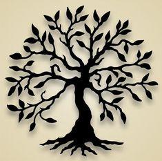 silhouette trees templates \ silhouette tree ` silhouette tree painting ` silhouette tree tattoo ` silhouette tree art ` silhouette tree branches ` silhouette tree simple ` silhouette tree of life ` silhouette trees templates Tree Wall Decor, Wall Art Decor, Silhouettes, Tatoo Tree, Tree Tattoos, 3d Cuts, Tree Artwork, Metal Tree Wall Art, Metal Art