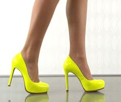 I found 'Yellow High Heels' on Wish, check it out!