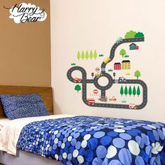 Very cool road map wall sticker. Only £19.99.