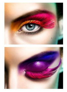 WowZa!! #eyes #makeup #eyemakeup #eyeshadow #mascara #eyeliner - bellashoot.com #red #purple #fauxlashes