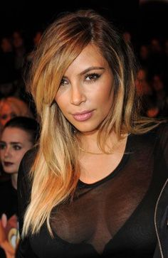 Kim Kardashian and her blonde ombre hair