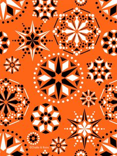 new artwork and random thoughts from David Roos & Ian Challis Random Thoughts, Twinkle Twinkle, Surface Design, Snowflakes, Draw, Orange, Patterns, Stars, Artwork