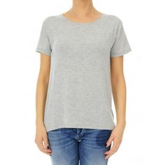 TSHIRT @Majestic_Luxe GREY   004 #caneppele #trento #moda #inspiration #look #women #style #shop #online #majestic #black #white #bianco #grey #tshirt #elegante #classic #everyday #casual #ss2016