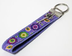 Key Fob Key Ring Key Chain by ColorMeDesigns on Etsy, $9.95