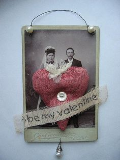 Be my Valentine on old cabinet card