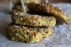 ♥ Savory Zucchini Carrot Kale Soft Cookies ♥   great idea for healthy snacks, good base for different flavors ♥  http://talesofakitchen.com/breakfast/zucchini-carrot-kale-savory-cookies/