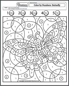nicole's free coloring pages: colornumber  spring  coloring page   pre-k  k math