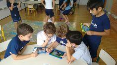 Third grade students at Colegio Marista create their own interactive games.   http://colegiomarista.org.br/pioxii/multimidia/estudantes-criam-jogo-em-aplicativo