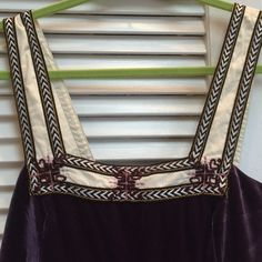 """Free people folkloric Babydoll dress velvet sm 16.5"""" pit to pit 33.5"""" long beautiful amethyst doper with embroidered trim. So many ways to wear this! Euc Free People Dresses Mini"""