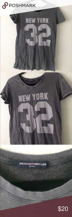 Brandy Melville New York 32 Tee Vintage look and feel, line on back of shirt came that way. No trades, no modeling, no holds. Posh only. Brandy Melville Tops Tees - Short Sleeve