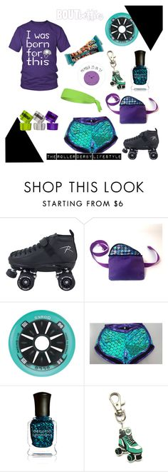 Roller derby fashion by Bout Betties on Polyvore featuring Deborah Lippmann, OTTO, Riedell and #BAbetties