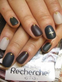 edgy matte nails #makeityourown #stellaandjamie #giveaway  | See more at http://www.nailsss.com/acrylic-nails-ideas/2/