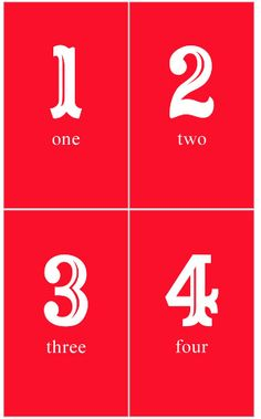 Free printable numbers 1-25 for Advent Calendar
