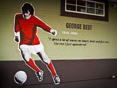 Football | Sir george best Manchester United, England.