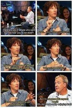So very well spoken, Mr Cumberbatch