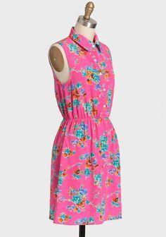 Enchanted Gardens Floral Dress | Modern Vintage Dresses Modern Vintage Dress, Vintage Dresses, Enchanted Garden, Tinder, High Neck Dress, Dresses For Work, Gardens, My Style, Floral