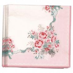 Green Gate GREENGATE Papierservietten Betty pale pink small 20 Stück | Coco der Kinderladen