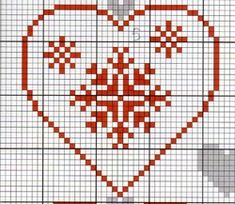 Christmas Embroidery Patterns, Diy Embroidery, Cross Stitch Embroidery, Cross Stitch Patterns, Filet Crochet, Stitch Crochet, Xmas Cross Stitch, Cross Stitch Heart, Cross Stitching
