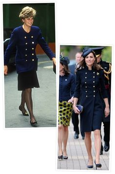 Princess Diana and Duchess of Cambridge - style comparisons.