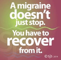A migraine doesn't... Chronic Migraines
