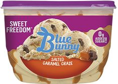 Salted Caramel Ice Cream, Sea Salt Caramel, Cereal Recipes, Snack Recipes, Snacks, Appetizer Recipes, Blue Bunny Ice Cream, Palestinian Food, Ice Cream Flavors