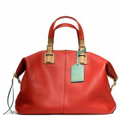 Coach :: SOFT LEGACY TRAVEL SATCHEL IN PEBBLED LEATHER