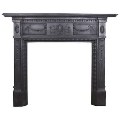 Antique Victorian Cast Iron Fireplace Surround | From a unique collection of antique and modern architectural elements at https://www.1stdibs.com/furniture/building-garden/architectural-elements/