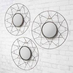 Tripoli round mirrors set of 3