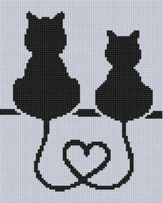 Kanaviçe etamin kedi şablon