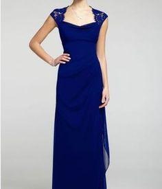 $113 David's Bridal Royal Blue Xs2195 Dress