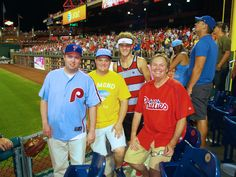 Son Richie, Nephews Evan and Brad, and me at Phillies game in Philadelphia...July 2014