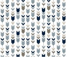 Fletching Arrows Small Scale Fabric Rustic Woods by Spoonflower