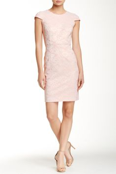 Open Back Lace Overlay Dress by Hailey Adrianna Papell on @nordstrom_rack