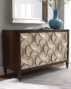 """Panache"" Silver-Leaf Chest by Schnadig Corporation at Neiman Marcus."