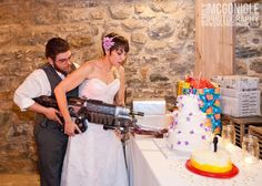 Megan  and Jeremiah's Gears Of War Wedding! Photography by Emily McGonigle