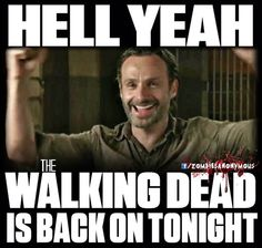TWD!  OH, I MISSED YOU SO MUCH! :)