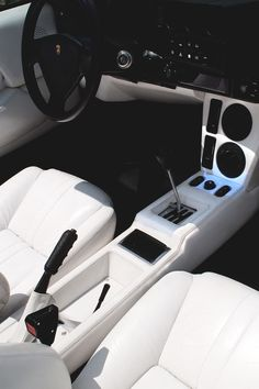 ♂ Car black & white interior