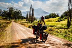 Eirc bicycle touring near Bluff Rock NSW Australia by worldbiking.info, via Flickr