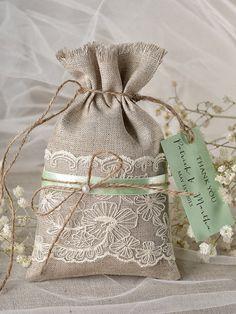 Custom listing 20 Rustic Mint Wedding Favor by forlovepolkadots
