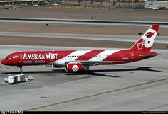 Photo of - Boeing - America West Airlines Aviation Industry, Aviation Art, America West Airlines, Us Airways, All Airlines, Commercial Aircraft, Bus, Paint Schemes, Photo Online