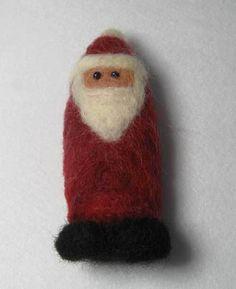 Needle Felted Santa Gnome