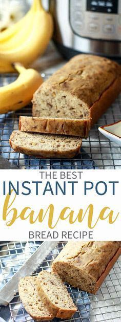 Get the tips & tricks on how to make desserts in your Instant Pot. This is, by far the Best Instant Pot Banana Bread recipe! Moist bread and rich flavors! via (best vegan desserts banana bread) Paleo Dessert, Dessert Recipes, Meal Recipes, Vegan Desserts, Breakfast Recipes, Cooking Recipes, Moist Banana Bread, Banana Bread Recipes, Casserole Recipes