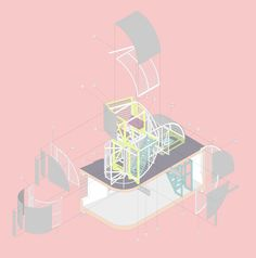 Antepavilion,Colored Exploded View