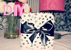 DIY Room Decor- Cute Tissue Box. Such a simple craft to add a little fun to a bedside table.