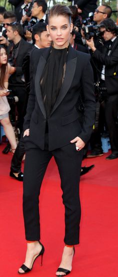 Barbara Palvin wearing an Alexandre Vauthier Spring 2013 tuxedo